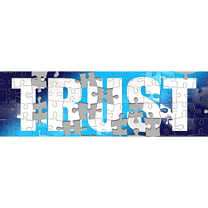 """Jigsaw puzzle of the word """"TRUST"""""""