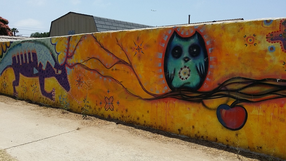 Wall mural with stylized animals