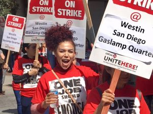 Marriott Strike at the San Diego Westin Gaslamp: Because One Job Should Be Enough