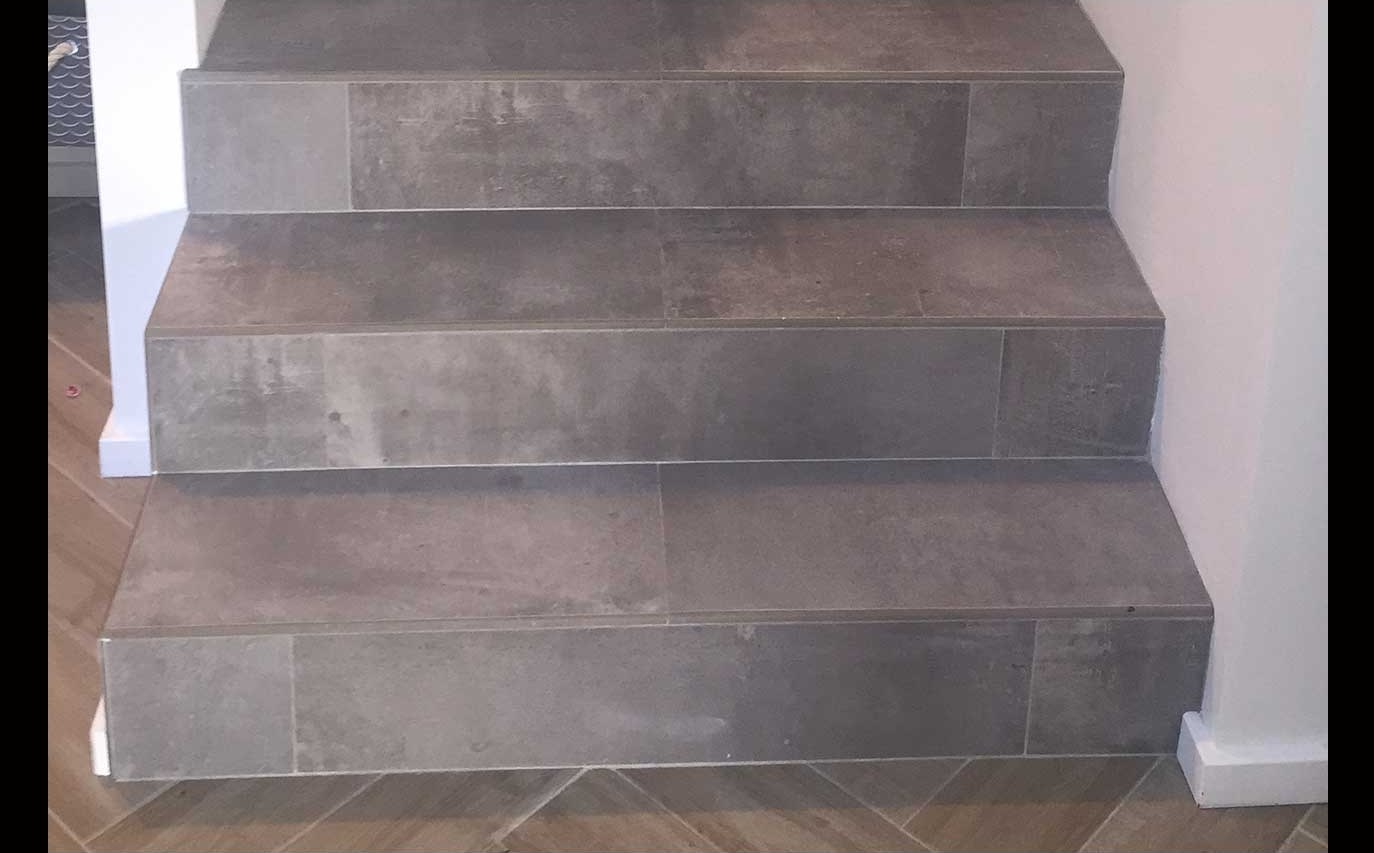 Tiling Stairs Create Beautiful Stairs That Complete Your Design | Floor Tiles Design For Stairs | Hallway Floor Tile | Stair Landing | House | Stair Riser | Wall