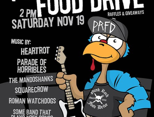 Thanksgiving 2016 Punk Rock Food Drive