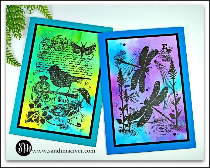 Nuvo Shimmer Powder Backgrounds hand made greeting cards