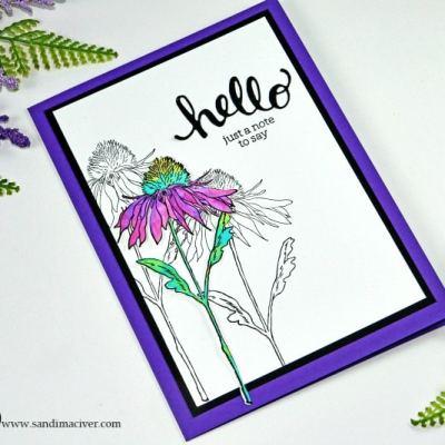 New Video – Simple Distress Oxide Watercolor Flower Garden