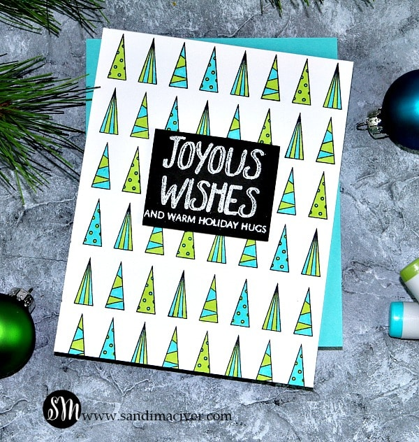 CLean Line Trees background stamp from Simon Says Stamp