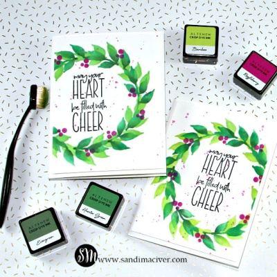 NEW VIDEO – Altenew Wonderful Wreath Christmas Card