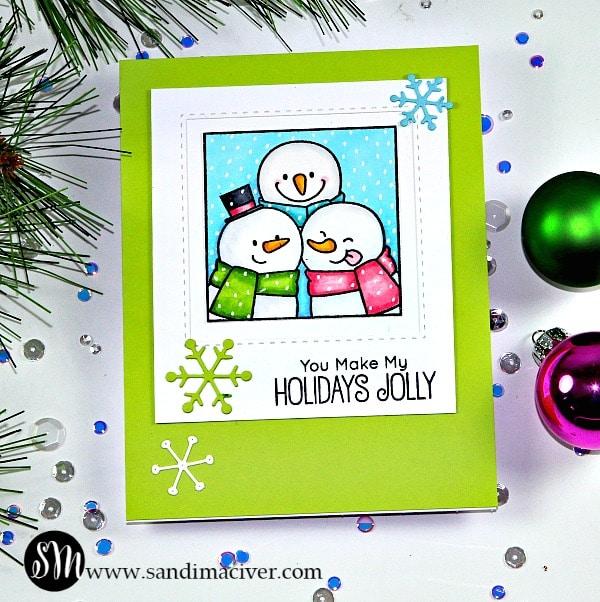 My Favorite Things Christmas Selfies snowmen