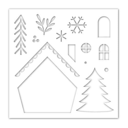 christmas gnome home stencil