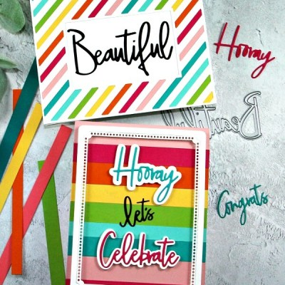 Pinkfresh Studio Rainbow Cards