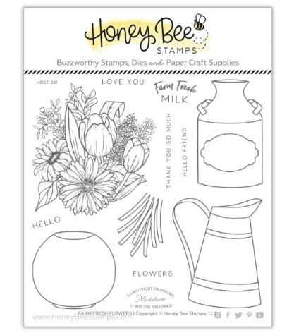 Honey Bee Stamps Farm Fresh Flowers Set