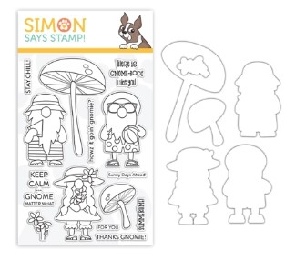 Simon Says Stamp Chillin Gnomes Stamp and Die Set