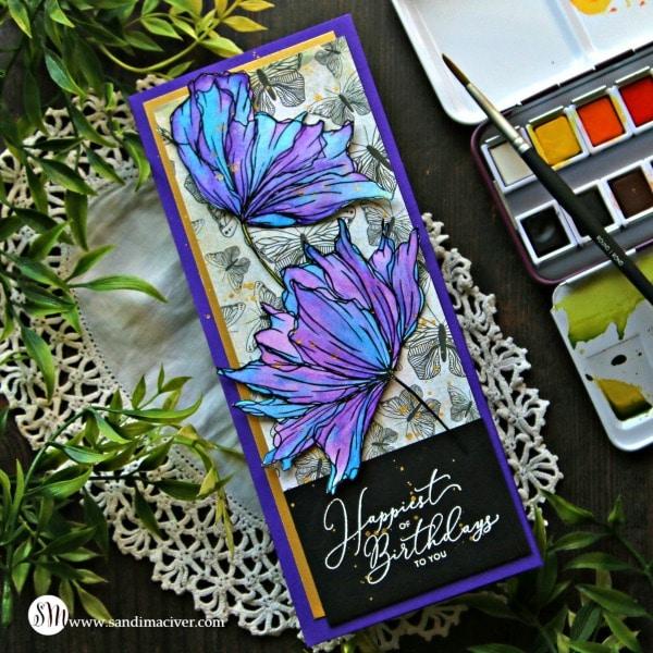 Slimline Card and Graciellie Designs Hey Lovely