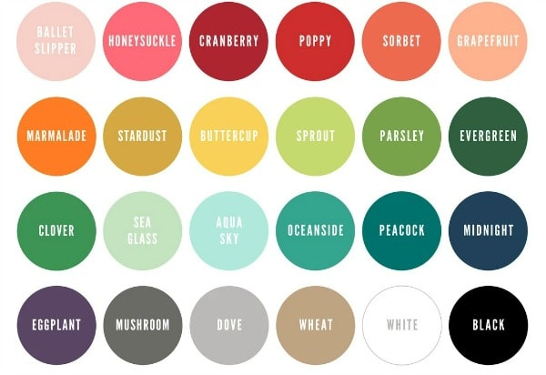 Concord and 9th NEW Colors - color chart
