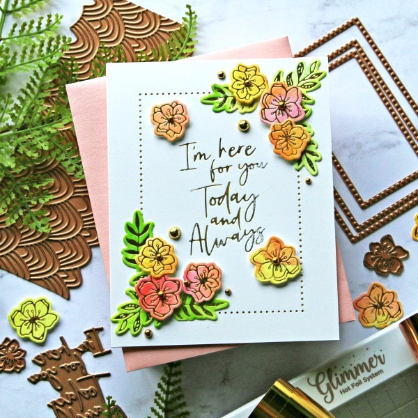 Spellbinders Stylish Script Collection White card