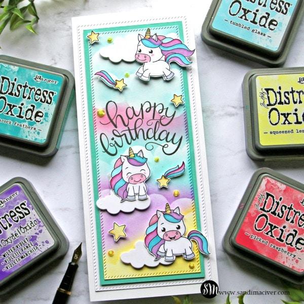 Slimline Card Unicorn Love from Simon Says Stamp