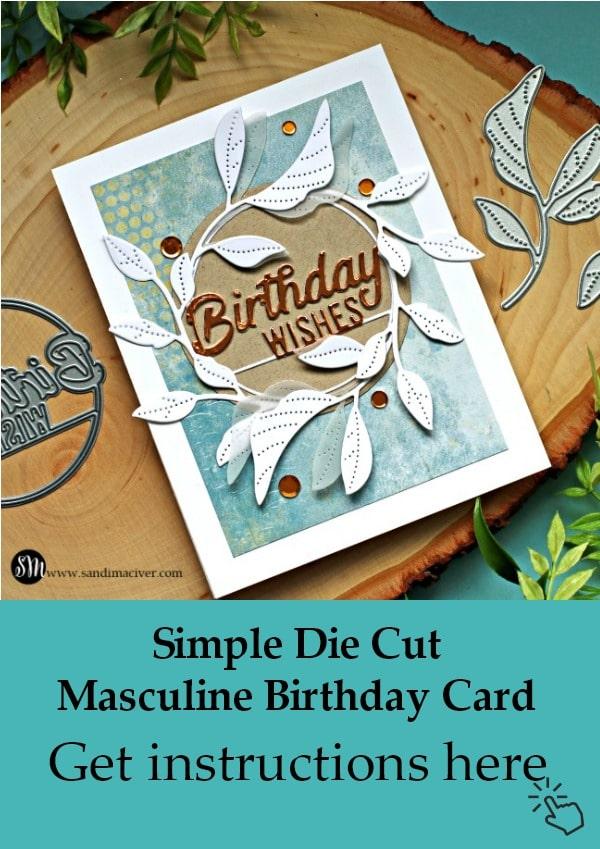 Simon Says Stamp Masculine Tender Leaves Card Pinterest