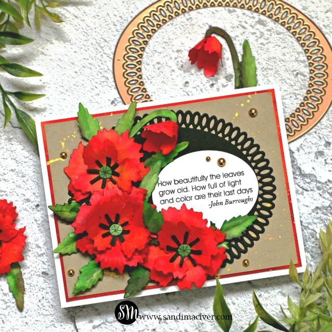 Spellbinders Oriental Poppy