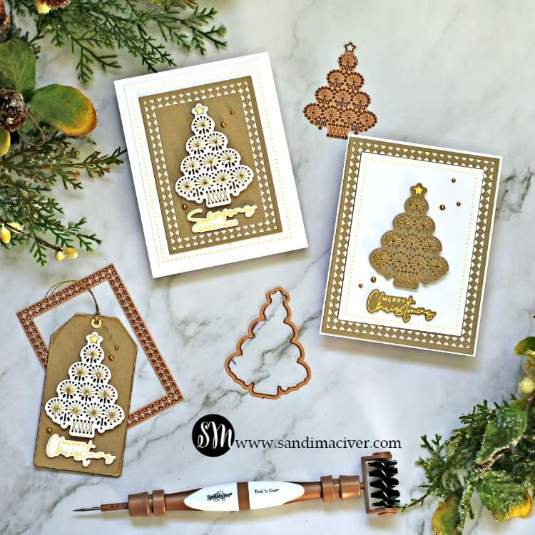 Spellbinders November Large Die of the Month projects by Sandi MacIver