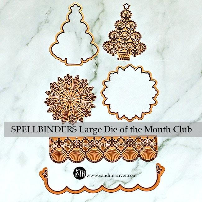 Spellbinders November Large Die of the Month Club dies