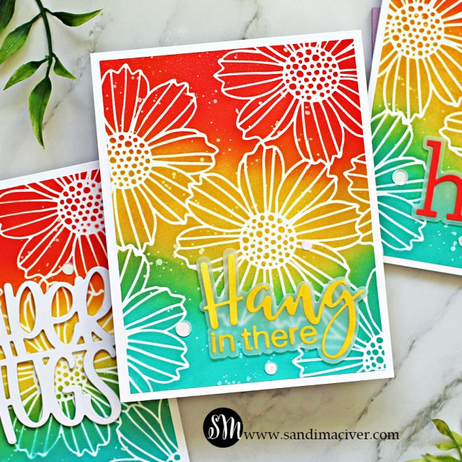 SImon Says Stamp Cosmo Flowers Stencil