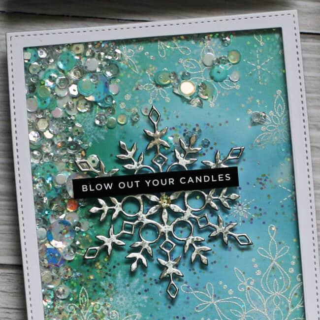 Snowflake Season Shaker Cards
