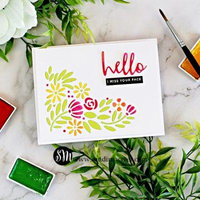 Spring Blooms Corner Card
