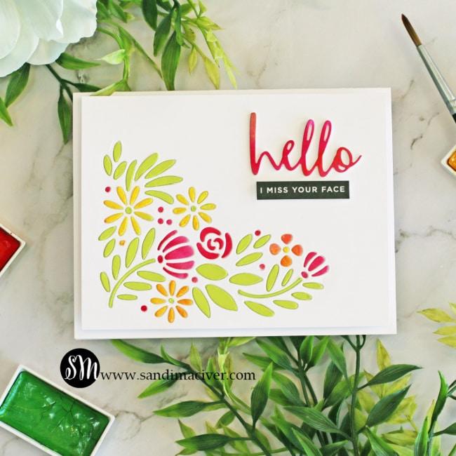 Spring Blooms Corner Card 3