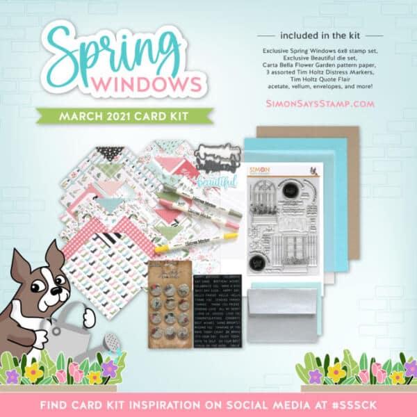 SImon Says Stamp Spring Windows March Kit square