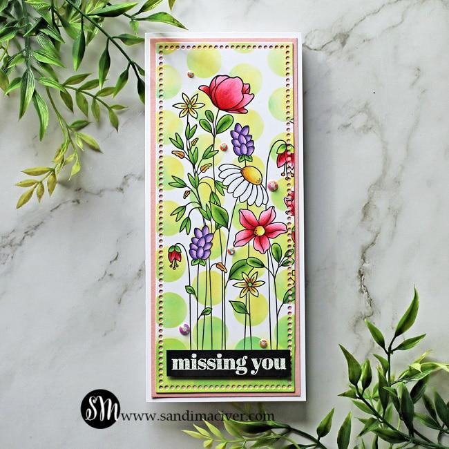 Simon Says Stamp Floral Garden Slimline Cards