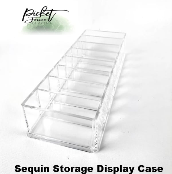Picket Fence Sequin Storage Display Case