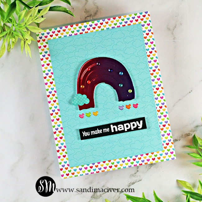 hand made greeting card created with products from the Simon Says Stamp June Card Kit