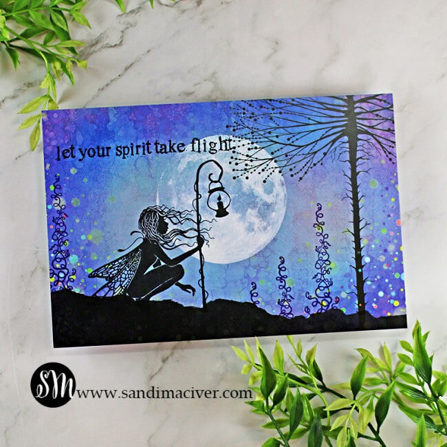 handmade card using the Lavinia Stamps Seren Stamp