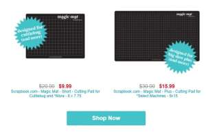 the new size magic mats for die cutting are now available at Scrapbook.com