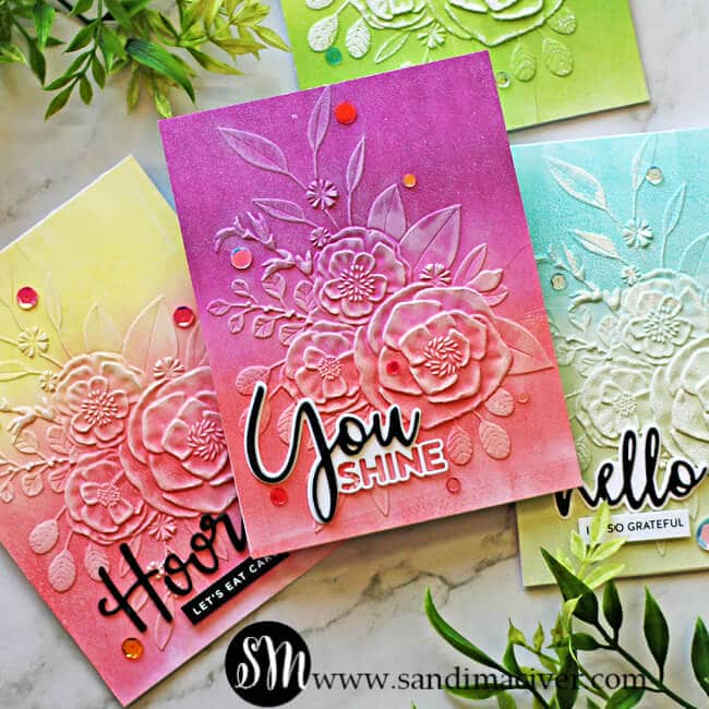 handmade greeting cards created with new card making and paper crafting products from Simon Says Stamp
