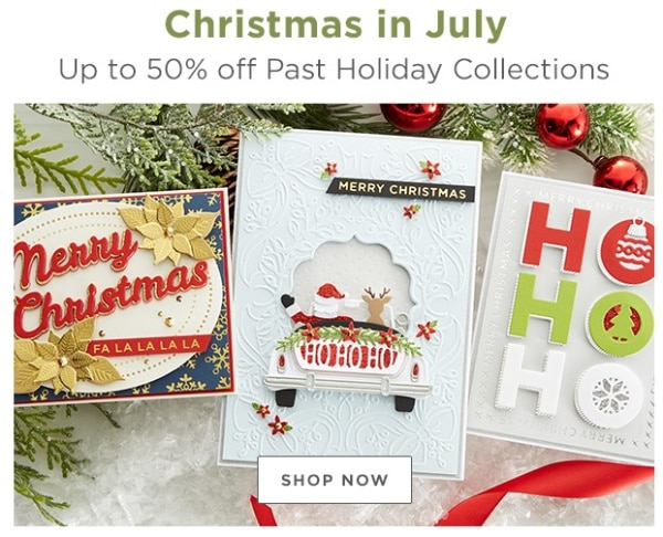 hand made christmas cards with cardmaking supplies from Spellbinders