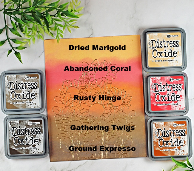Distress Oxide Inks Blended new colors