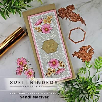 Spellbinders Floral Glimmer Slimline Card