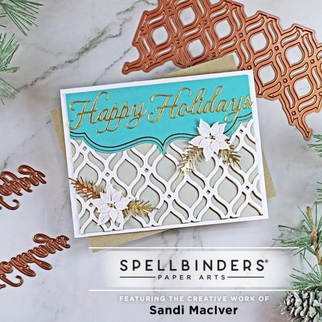 handmade Christmas card using cardmaking die cuts from Spellbinders