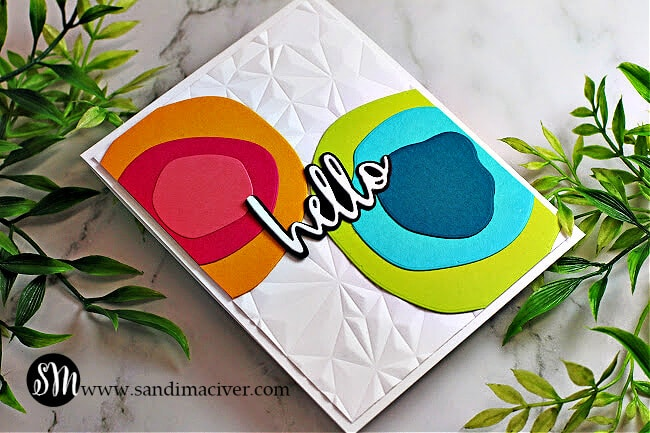 handmade greeting card with big bold circles using cardmaking and paper crafting products from Simon Says Stamp