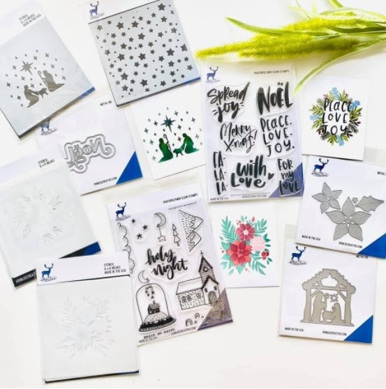 new stamps and dies for creating handmade Christmas cards