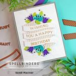 handmade greeting card with a glimmer foiled sentiment using cardmaking and papercrafting products from Spellbinders