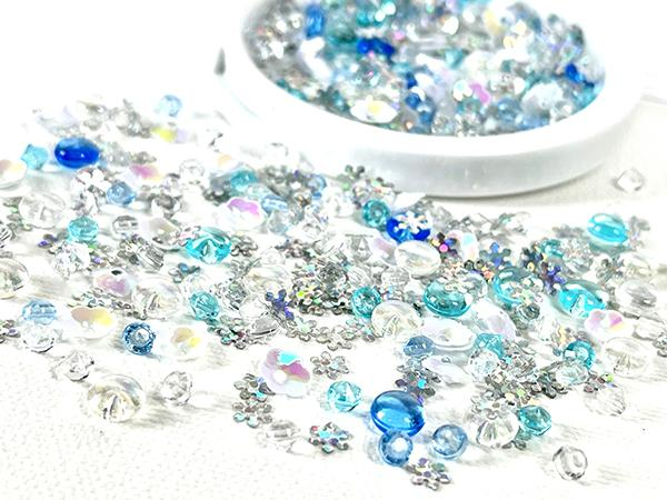blue silver and holograph sequins used for cardmaking and papercrafting from Picket Fence Studios