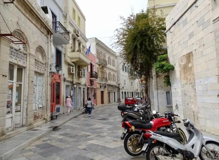 Daily scene in Ermoupolis, Greece