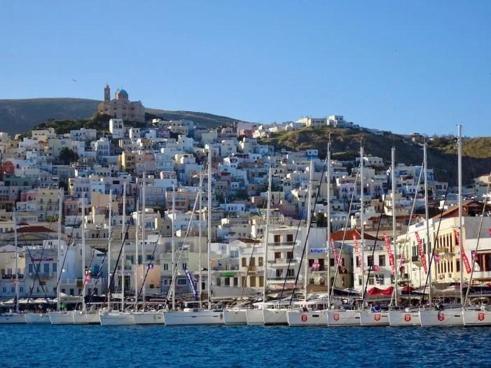 Ermoupolis Harbor, Syros, Greece