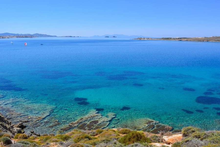 Beautiful blue sea of Paros Greece, Things to do in Paros, Greece