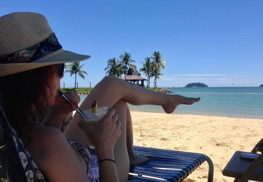 Life s an expat-me on the beach