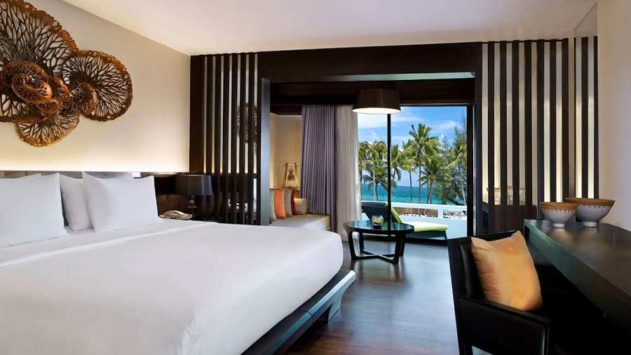 Le Meridien room view -Best areas to stay in Phuket