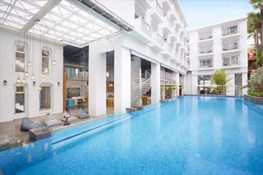 Lub d pool while hotel-Best areas to stay in Phuket