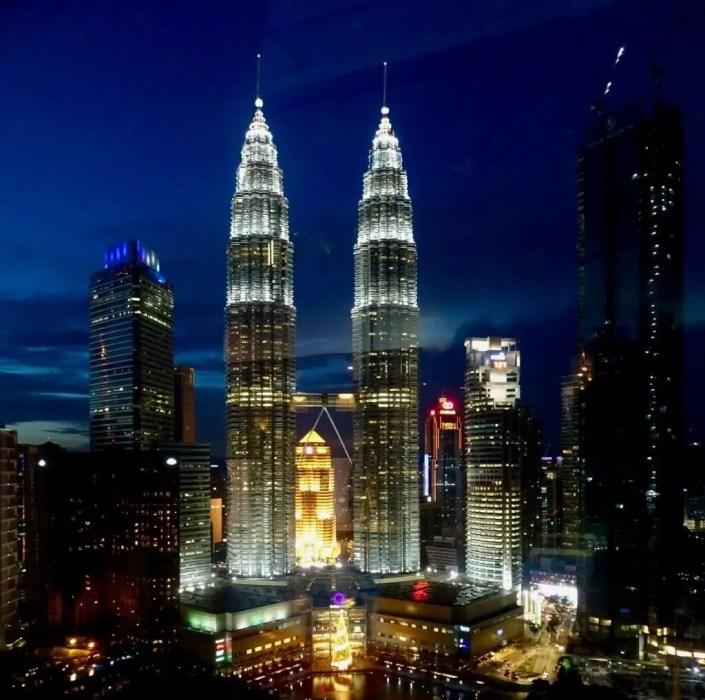 Petronas towers at night, Kuala Lumpur-Places to go in Malaysia