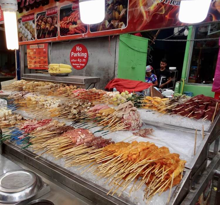 Malaysia street food on sticks -reasons to visit Malaysia