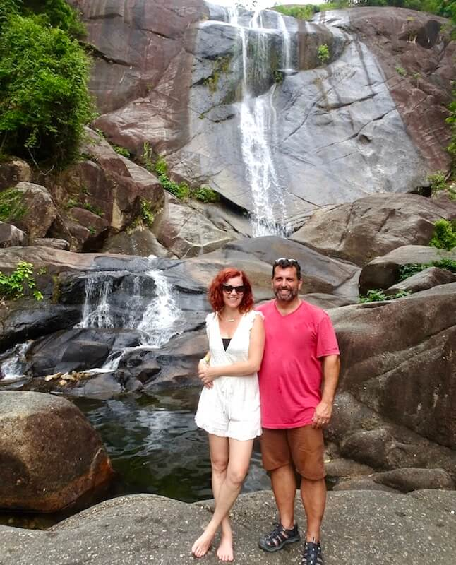 Us in front of 7 Wells Waterfall Langkawi Itinerary